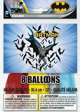 """Batman 12"""" Chicos Globos de Látex Decoración Fiesta De Cumpleaños 8pk"""