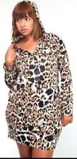 Apple Bottoms Plus Size Hooded Animal Print Dress Tunic Leopard Croc Zebra