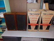Vintage Pair of Realistic Optimus-2B Acoustic Bookshelf Speakers w/Boxes NM