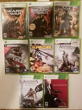 Lot Of 8 XBox 360 Games - Gears of War, Assassins Creed, Splinter Cell + More