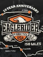 EAGLE RIDER MOTORCYCLES Ladies XL 20th ANNIVERSARY Long Sleeve T-shirt