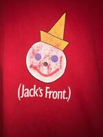 Vtg Jack in the Box Jack Is Back Ad Campaign Employee Graphic Tee Shirt 1994 90s