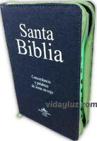 BIBLIA LETRA GRANDE REINA VALERA 1960 JEAN CON CIERRE VERDE CON INDICE