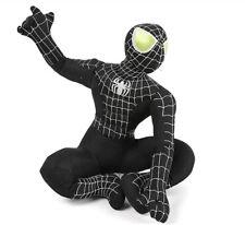 Black Spiderman Stuffed Animal Black Spiderman Cartoon Plush Soft Doll Toys 35cm