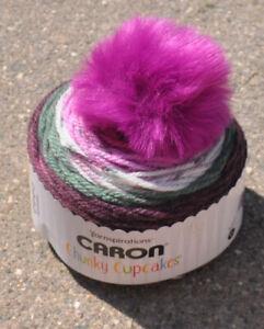 CARON CHUNKY CUPCAKES GRAPESICLE #23008 - New, Self-Striping & Smoke Free Home