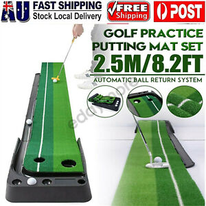 Portable Golf Putting Mat Auto Return Practice Putter Training Aids In/Outdoor
