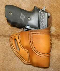 Gary C's Leather Avenger OWB HOLSTER fits Sig Sauer P229. With Sweat/Pinch Guard