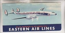 1956 EASTERN AIR LINES ENVELOPE PASSENGER TICKET/BAGGAGE CHECK