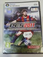 Pes 2011 Pro Evolution Soccer Set PC Windows Spanisch Konami Messi Neu - Am