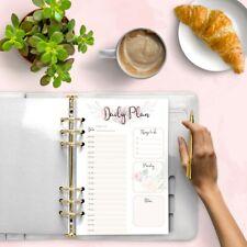 Planificador diario plan Imprimible Recarga agenda Insertos de descarga digital Ilustración