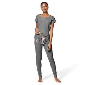 Womens Cuffed Sleeve Athletic Hoodie Sweatshirt and Shorts Pajama Lounge Sleep Set U.S Polo Assn