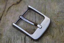 metallo fibbia cintura per 38mm 3.8Cm Cinghia LUCIDO Frozen ARGENTO F