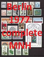 Berlin Complete Year 1977/1978 MNH Stamps, Mi. 532-590, Germany, 2 pictures