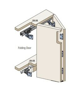 Folding sliding door system for kitchen cabinets and wardrobe doors upto 2m high