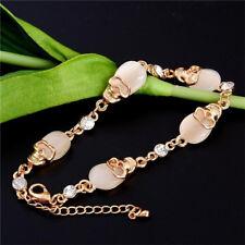 Bangle Gift Fashion Women Opal Stone Skull Bracelet Bracelets Gold Plated
