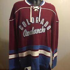 NWT Colorado Avalanche NHL Hockey Pullover Sweatshirt Men's Large L *Quality*