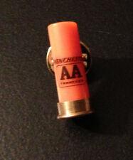 WINCHESTER FIREARMS AA ORANGE Shotgun Shell PIN Hat Tie Lapel Ammunition skeet