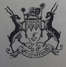 India Nawanagar State 1937 Bedi Port SS KABINGA Arms List signed Captain