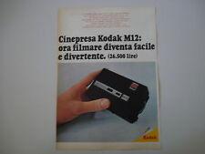 advertising Pubblicità 1969 CINEPRESA KODAK M12