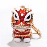 Lovely Keyring Bag Cute Hot Red Gift Alloy Charm Ring Nice Keychain Pendant SH