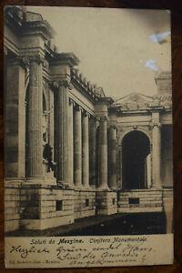 Ak Saluti da Messina, Cimitero Monumentale, 1906 gelaufen