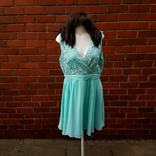 Little Mistress London floral lace mint dress size 16 bridesmaid weeding summer