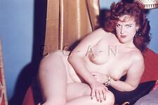 Vintage 1940s-60s Chair 35mm Slide / Negative- Well Doué Redhead- Lays Down
