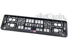 BMW X5M Series E70 Euro Standart License Plates Frames with 3D ///M Logo 1 pcs.
