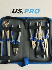US PRO 5pc Pliers Set, Cutter, Long, Bent Nose, Water pump, 1821