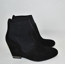 Tory Burch 'Brenda' Wedge Black Suede Bootie Size 10.5 M