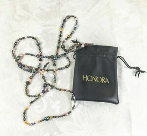 """Honora Collection Multi-Color Baroque Freshwater Pearl Necklace 70"""" Opera Style"""