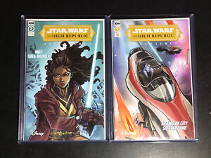 Star Wars High Republic Adventures #2 1:10 & A Cover 🚀📈 2 Book Lot