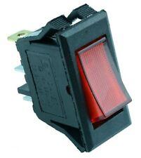 Red Rectangle illuminated Rocker Switch SPST 12V