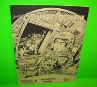 Count Down ORIGINAL Gottlieb Pinball Machine Game Instruction Manual 1978