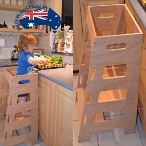 Kitchen Helper Tower - Montessori Toddler stool step tower