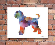 Black Russian Terrier Abstract Watercolor Painting Art Print by Artist Dj Rogers
