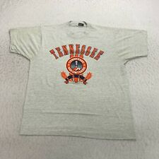 Vintage Tennessee Volunteers T-Shirt Size Xl Gray Screen Stars Made In Usa Mens