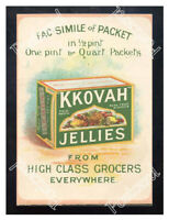 Historic Kkovah Table Jelly, 1890s. Advertising Postcard