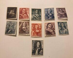 Stamp Netherland 1944 WWII War Germany Holland Occupation