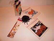 Halloween spider, pencil, pumpkin erasers, goody bag
