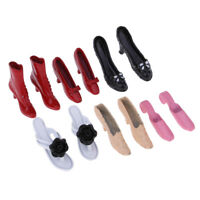 Miniature Colorful High Heel Shoes 1/12 Dolls House Clothes Accessory Decor