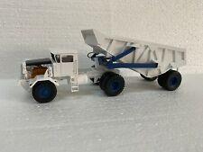 1/50 KW Dart 50 EDT Rear Dump Trailer - Ready Made Resin Model - White - Blue