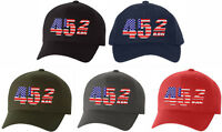 Donald Trump Hat 45 2 Term Embroidered FLEX FIT Ball Cap MAGA 45 Squared, Trump
