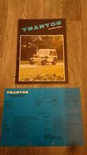 TRANTOR Original Tractor Sales Brochure & Specification Sheet 1970s-1980s?