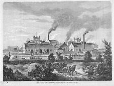Tarnowskie Góry, Tarnovitz, Ansicht der Hütte, Polen,Original-Holzstich 1879