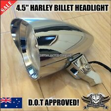 "4.5"" Chrome alloy Billet headlight Harley sportster dyna chopper victory softail"