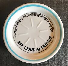 Vintage French Bistro Aux Lions De Faience Tip Plate Tray Dish Coaster Absinthe