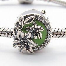 SUMMER FLOWERS CHARM Bead Sterling Silver.925 for European Bracelet 486