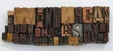 Letterpress Letter Wood Type Printers Block Lot Of 44 Typography Eb 90