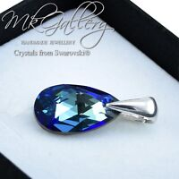 925 Sterling Silver Pendant Crystals from Swarovski® Pear/Almond 16mm - Colours